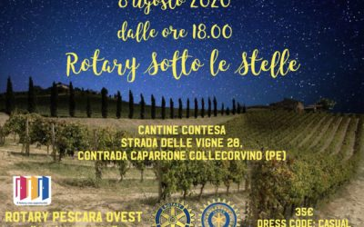 Rotary sotto le stelle